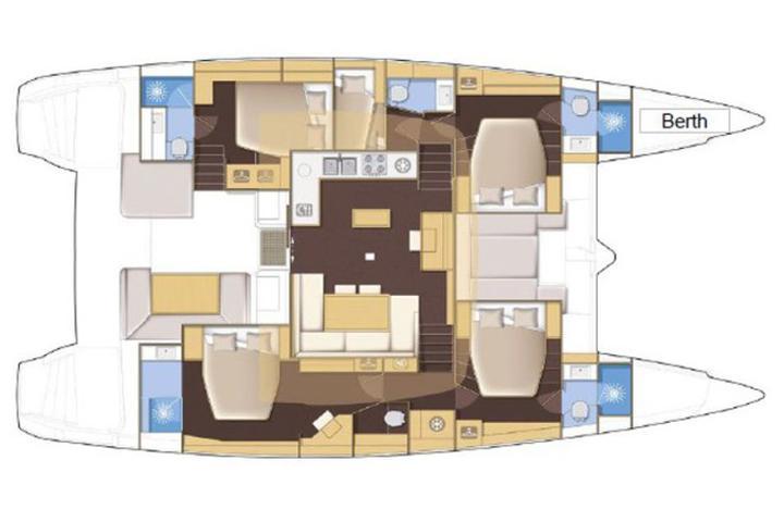 Lagoon 52 - 6 cabin