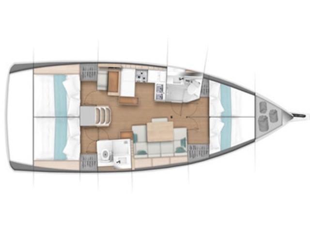 Sun Odyssey 440 / 4 cabins